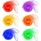 HENGSONG Pack of 12 Belly Dance Juggling Scarves Sensory Toy for Baby/Toddler / Kids 6 Colors, 60 x 60 cm