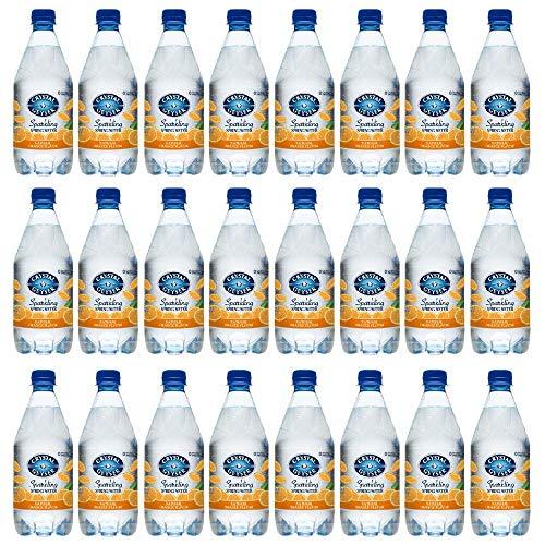 Crystal Geyser Sparkling Spring Water, Orange Flavor, 18 Fl. Oz. PET Bottles , No Artificial Ingredients, Sweeteners, Calorie Free (Pack of 24) (Flavored Sparkling Spring Water)