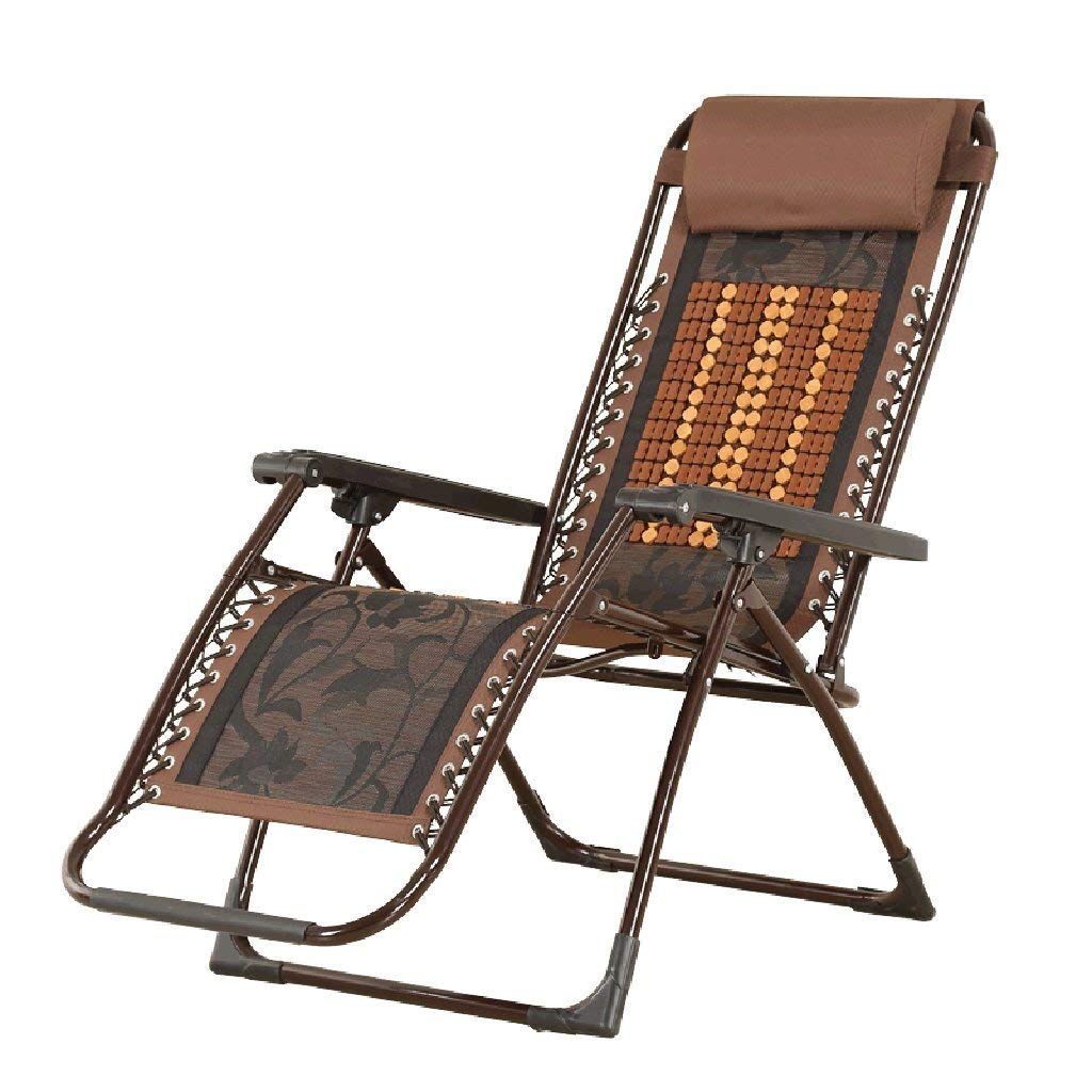 Minyine Ocio Sillón reclinable de bambú Oficina de Madera ...