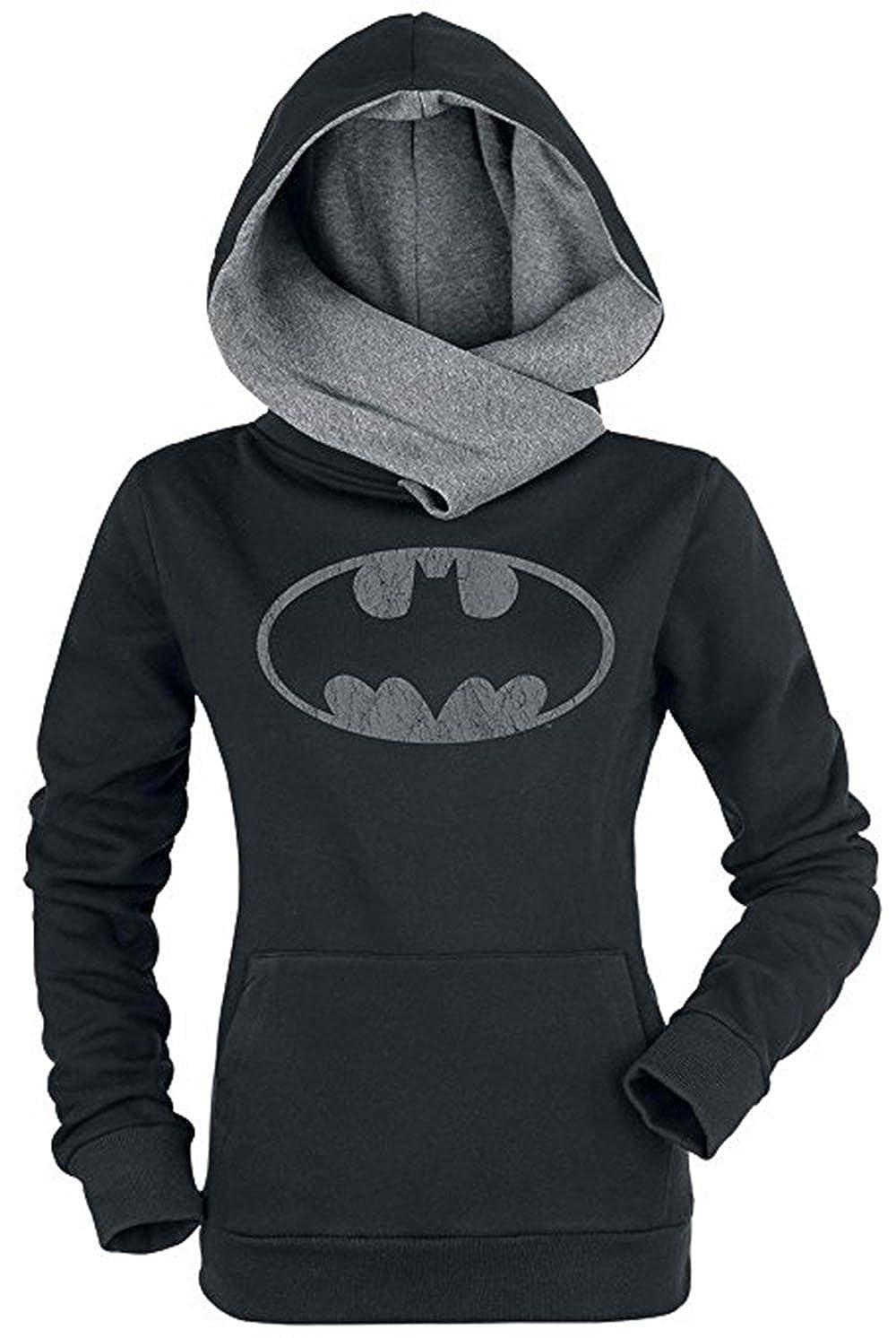 Shilanmei Women Cotton Long Sleeve Coat Top Tees Batman Hoodies Sweatshirts
