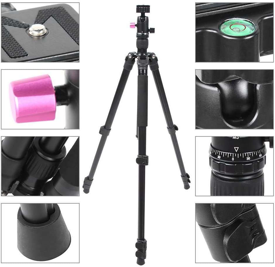 Projector Portable Camcorder Mugast Photography Tripod,Portable Alloy 8KG Load 4 Sections Shooting Travel Monopod Tripod for Any Digital DSLR Camera