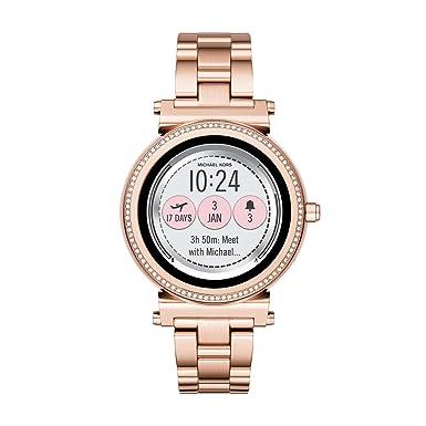 Michael Kors Acceso Sofie Rosa Dorado Pantalla Táctil Reloj Inteligente: Amazon.es: Relojes