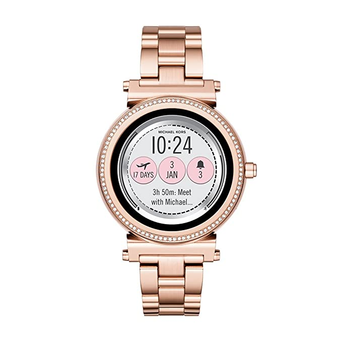 673327ac1e248 Buy M Kors Display Watch Digital Black Dial Women's Watch - MKT5022 Online  at Low Prices in India - Amazon.in
