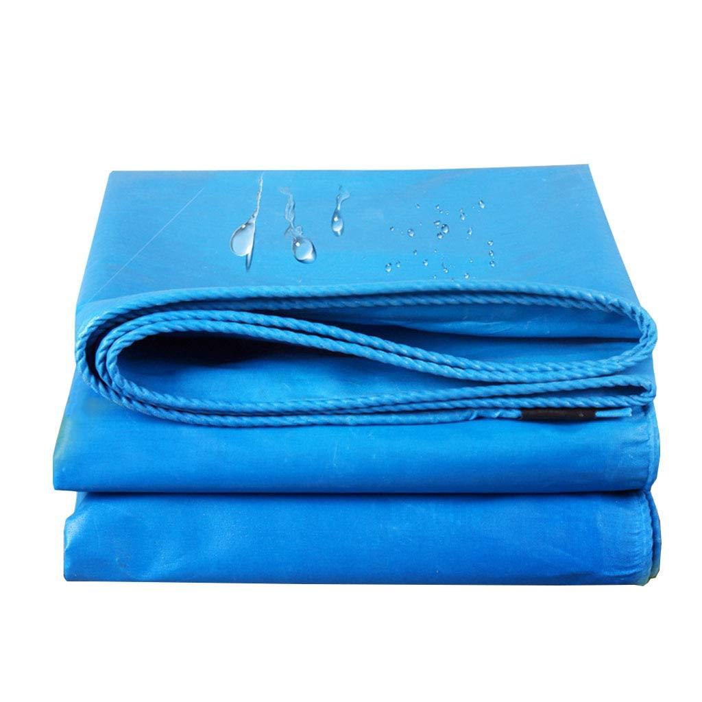 YX-Planen Starke Plane Blau Robust Schutzplane für Bodenabdeckung - 100% wasserdicht und UV-geschützt - Dicke 0,4 mm, 480 g m²