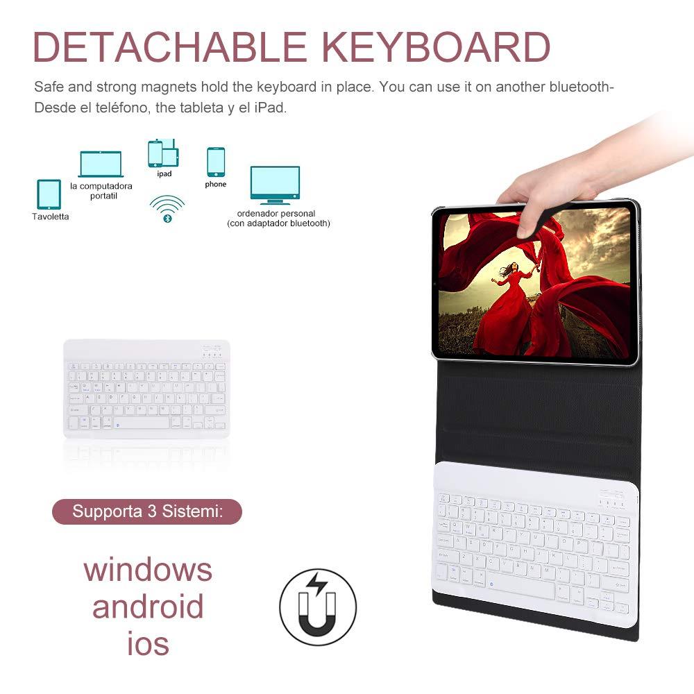 Amazon.com: OYOSUOGG Keyboard Case for iPad Pro 11 Inch 2018 - Lightweight - Auto Sleep/Wake - Slim Folio Smart Cover - Apple iPad Pro 11 2018 Leather Case ...
