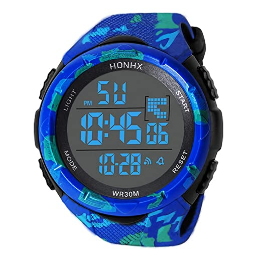 Digital Watches for Men DYTA 5ATM Water Resistant Outdoor Wrist Watches LED Sport Watch on Sale