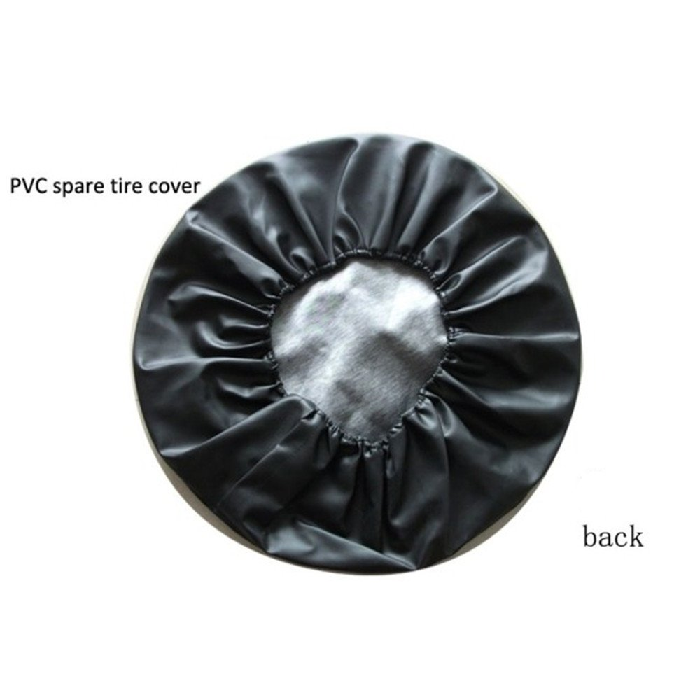 Universal Spare Tire Cover Black (16 inch) by Moonet (Image #2)