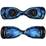 MightySkins Protective Vinyl Skin Decal for Swagtron T5 Hover Board Self Balancing Smart Scooter wrap cover sticker skins Blue Mystic Flames
