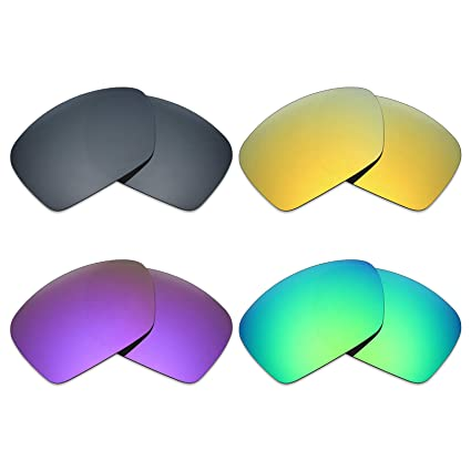 aa96b5a855 Image Unavailable. Image not available for. Color  Mryok 4 Pair Polarized  Replacement Lenses for Oakley Plaintiff Squared Sunglass - Black ...