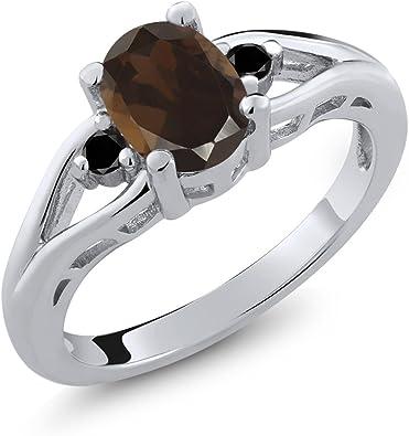 Size 5 Sterling Silver Black Stone /& Quartz Gem Band Ring Vintage Statement Engagement Wedding Promise Anniversary Bridal Cool