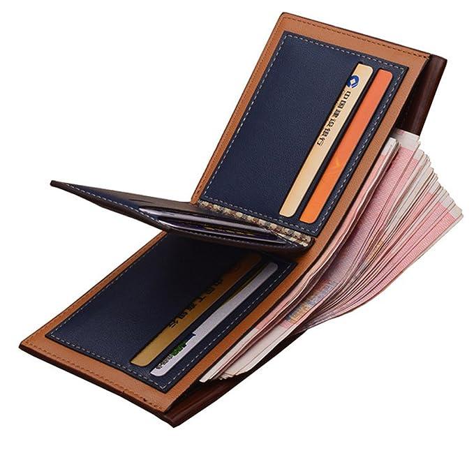 PINKAH Retro Einfachheit Brieftasche HerrenGeldbörse Herren Kunstleder