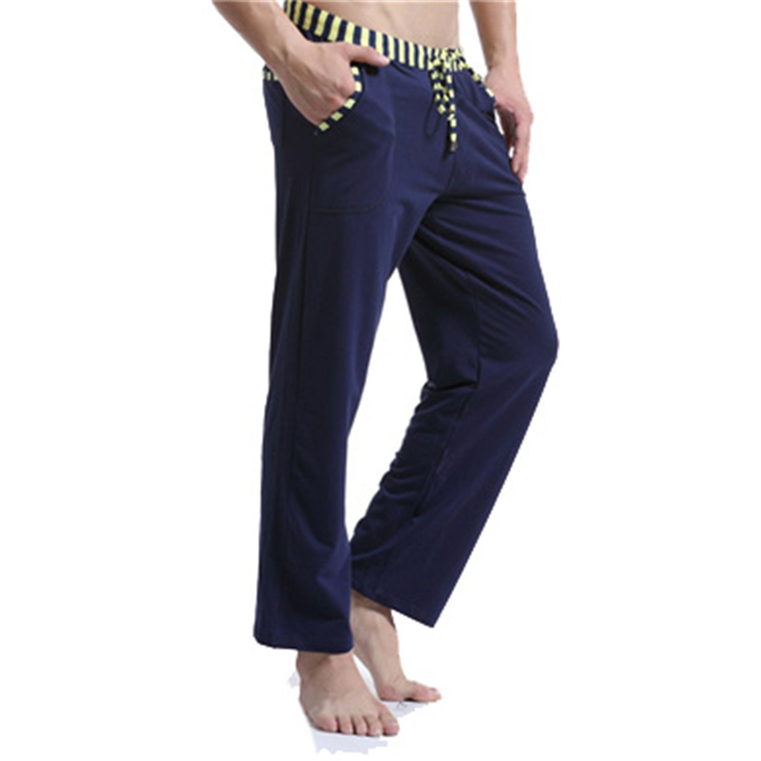 Orcan Bluce Pajamas Pants Sexy Warm Cotton Mens Sleep Bottoms Fashion Sleeping Pants Yogo Wear at Amazon Mens Clothing store:
