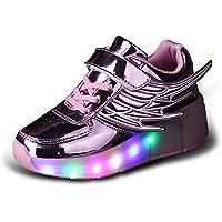 80fdc2dd6625 Skybird-UK Unisex Bambino LED Scarpe con Rotelle Automatiche Skateboard  Formatori Outdoor Multisport Ginnastica Lampeggiante