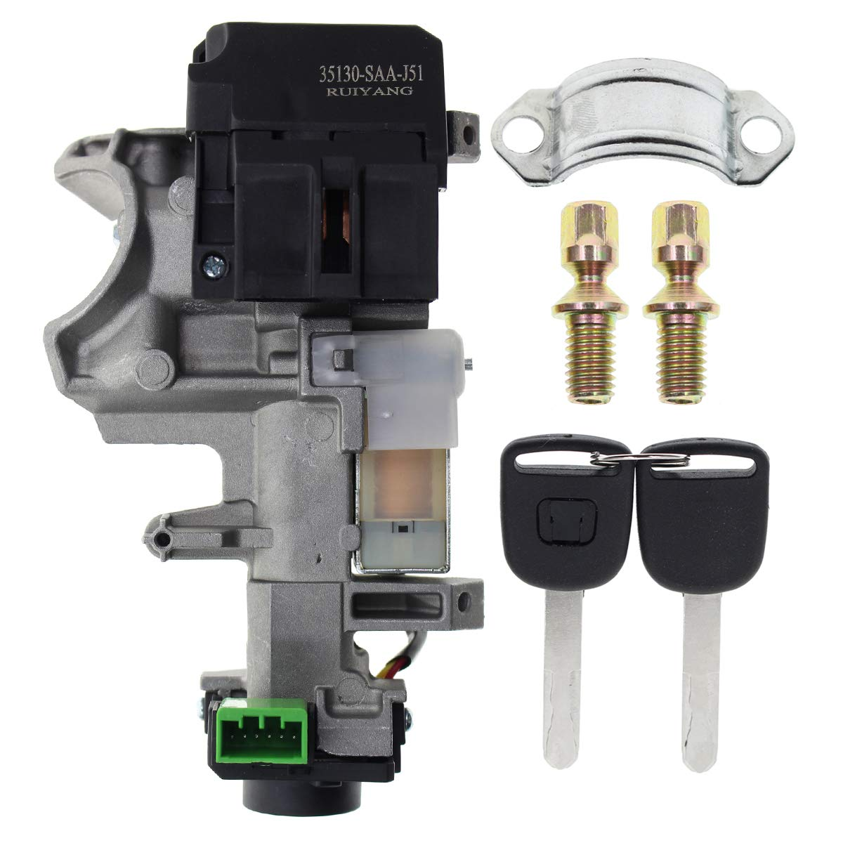 Ignition Switch Cylinder Lock Auto Trans FOR 03 04 05 06 07 Honda Accord 2 KEYS