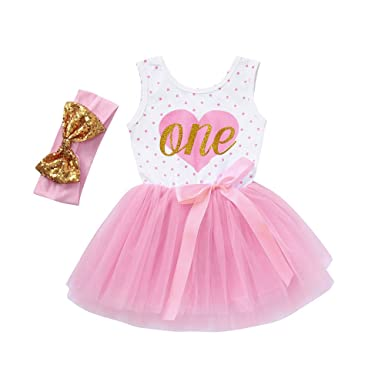 58fcf3000 Amazon.com  Dot Tutu Dress+Headband Clothes Set Outfits Dresses Baby ...