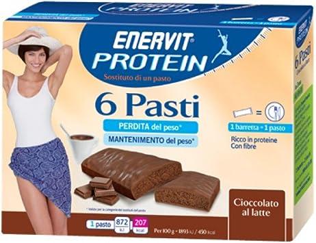 Enervit Proteína 6 comidas Suplemento de Alimentos 6x46g ...