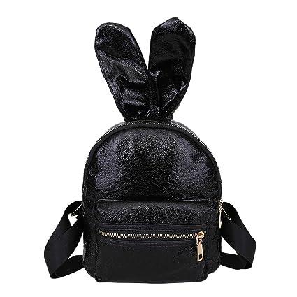 da5ff52e4826 Amazon.com: ❤ Sunbona Schoolbag Fashion Girls Leather Backpack ...