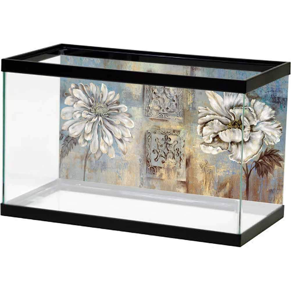 bybyhome Underwater Poster Fish Tank Flower, Plant, Beautiful, Artistic (14) Landscape Image Fish by bybyhome