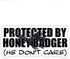 "Honey Badger Inspired Parody He Don't Care Funny Window Laptop Car Sticker 8"""
