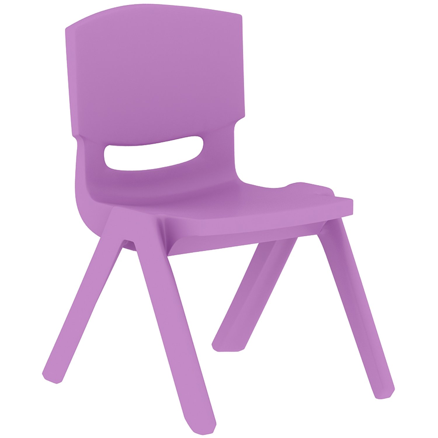 2xhome - Set of Four (4) - Purple - Kids Size Plastic Side Chair 10'' Seat Height Purple Childs Chair Childrens Room School Chairs No Arm Arms Armless Molded Plastic Seat Stackable by 2xhome (Image #2)