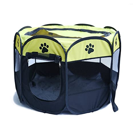 Sotoboo 8 Paneles portátil Plegable Cachorro Perro Mascota Gato Parque de Juegos Interior/Exterior Jaula