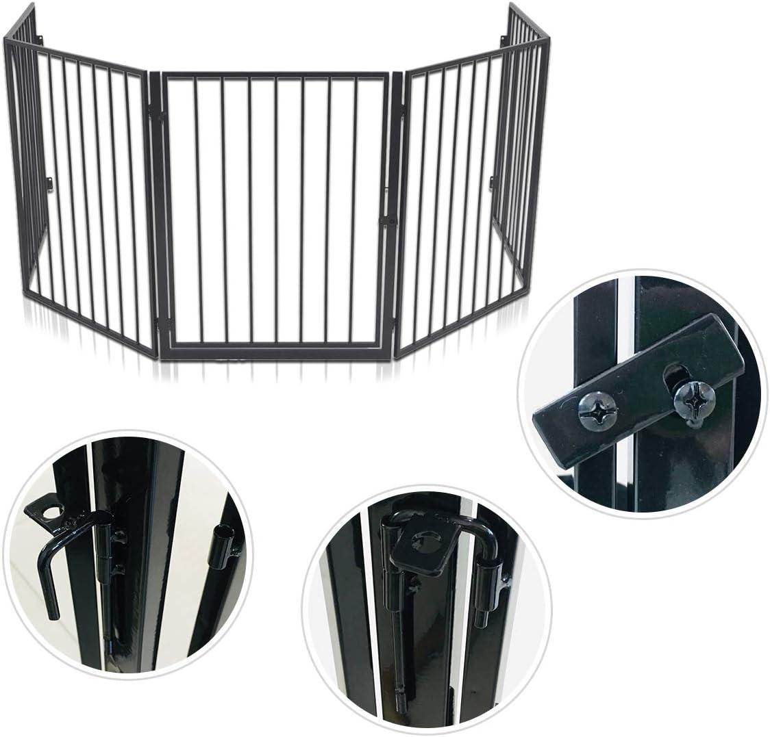 5 elementos para ni/ños color negro 305 cm metal NAIZY Rejilla de protecci/ón para chimenea
