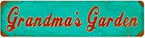 Grandmas Garden Vintage Metal Sign Garage Signs for Home 4x16 inch Tin Sign Garage Decoration Sign