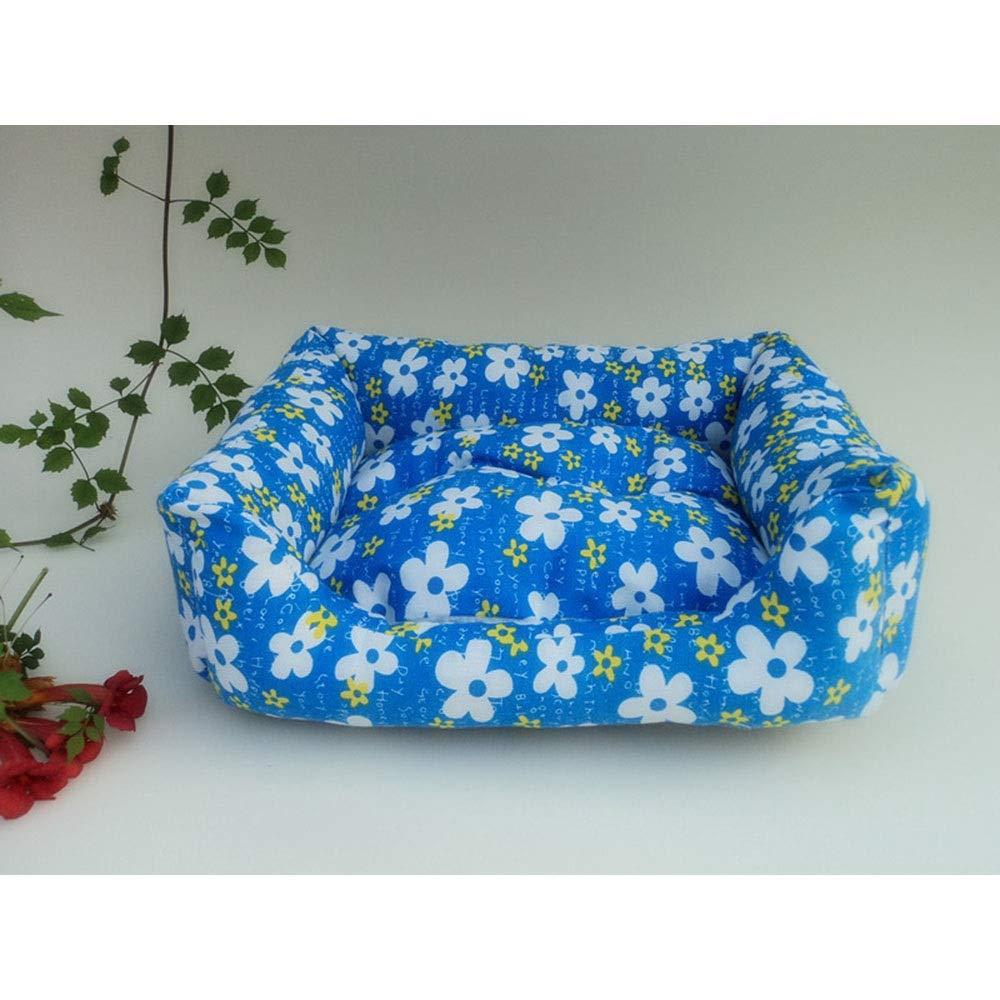 As-picture 404811cm As-picture 404811cm Kirabon Printed Canvas Pet Nest Pet Bed Sofa Positive and Negative Dual-use Mat (color, Size   40  48  11cm)