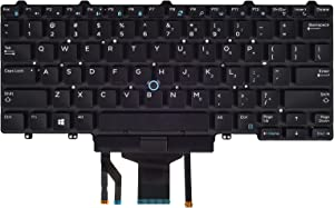 Replacement Keyboard Compatible with Dell Latitude E5450 E5470 E7450 E7470 7480 7490 5480 5488 Series Laptop with Backlit with Pointer US Layout