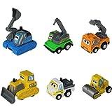 6 Pezzi Costruzione Camion Giocattolo con mini attrito e Set di Spingere auto con Libro da Colorare per Bambini 3 Anni