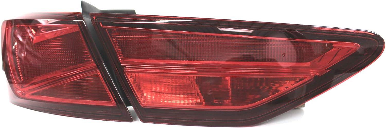 Finest Folia L/ámina Set para Faros piloto luz Traseros Pegatinas Autoadhesivo Rojo, C022 Limousine
