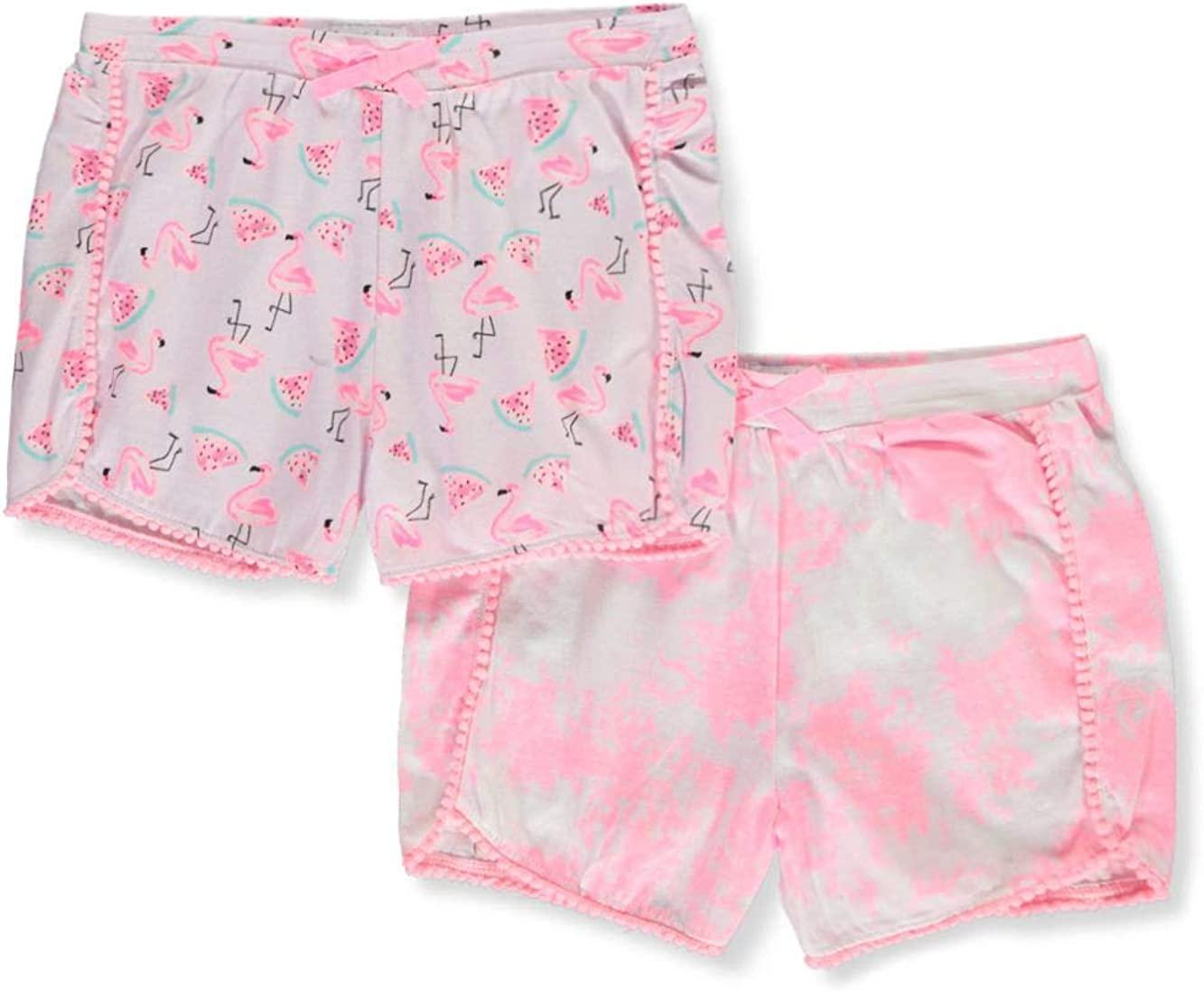Free Style Revolution Girls 2-Pack Printed Shorts