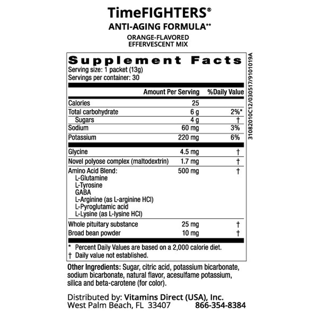 TimeFIGHTERS® Anti-Aging Drink Mix - Orange Flavor - 30 Packets - Nutrients for Health by WT Rawleigh by W.T. Rawleigh