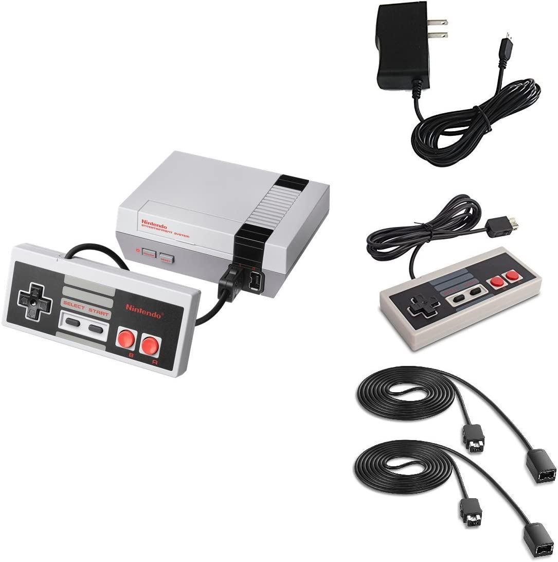Piranha Performance Nintendo NES Classic Edition Console Bundle with Extra Controller & Two 6' Controller Extension Cables