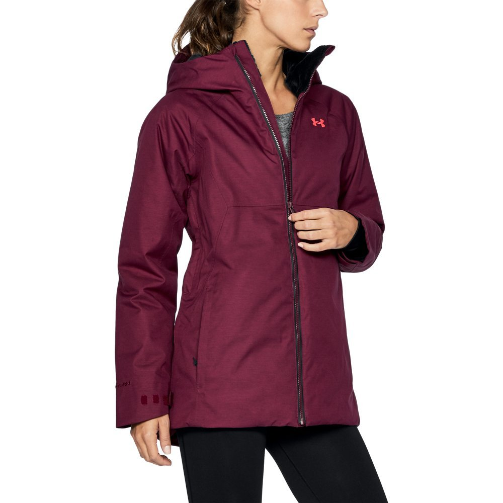 Under Armour Women's ColdGear Infrared Snowcrest Jacket, Black Currant/Black, Small