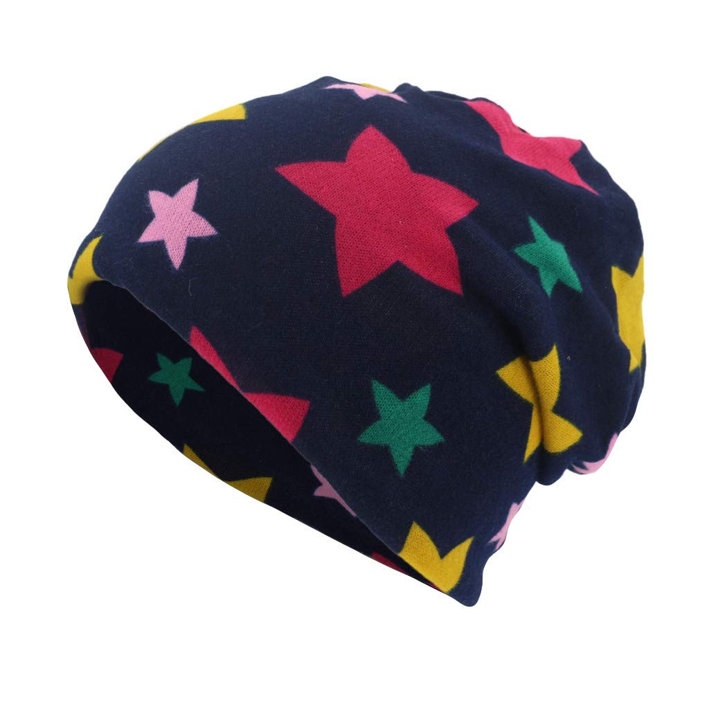 DDKK Windproof Ski Face Mask-Youth Snowboard Cycling Hat-Outdoors Helmet Liner Mask-Stars Print Scarf Beanie Cap