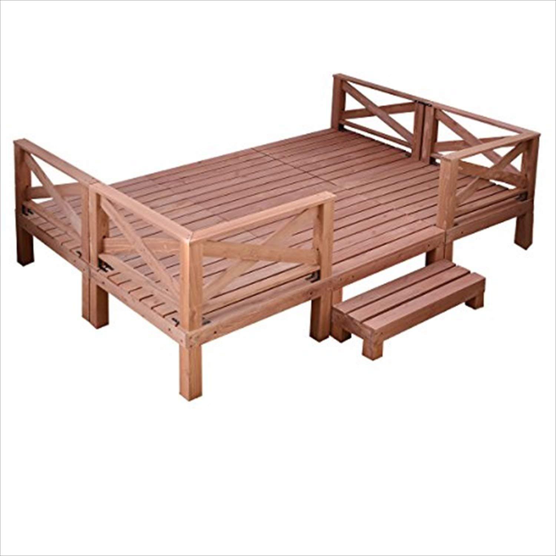 山善(YAMAZEN) ガーデンマスター 天然木ウッドデッキ11点セット(1.5坪タイプ) YWD-540 B00CHYT0YO