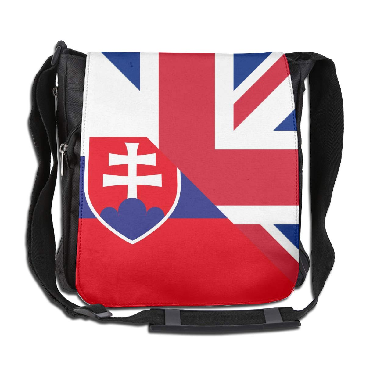 Unisex Stylish Satchel Messenger Bags Birtish And Slovenia Flag Crossbody Shoulder Bag Side Bags For School//Work//Trips