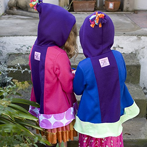 Twirly Girl Jacket for Girls 13 Pockets Purple Blue Great for Fall Made in USA by TwirlyGirl (Image #4)