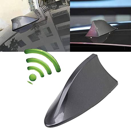 For Gray ZTMYZFSL Car With Blank Radio Shark Fin Antenna Signal Shark Fin With Adhesive ABS Varnish-Black//Silver//White
