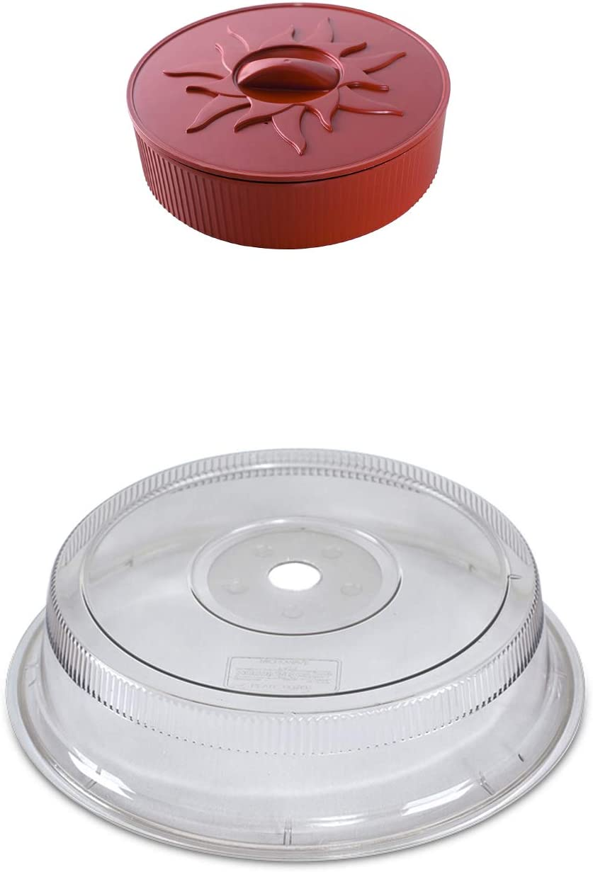 kjsc Microwave Tortilla Warmer 11-Inch Plate Cover 10-Inch