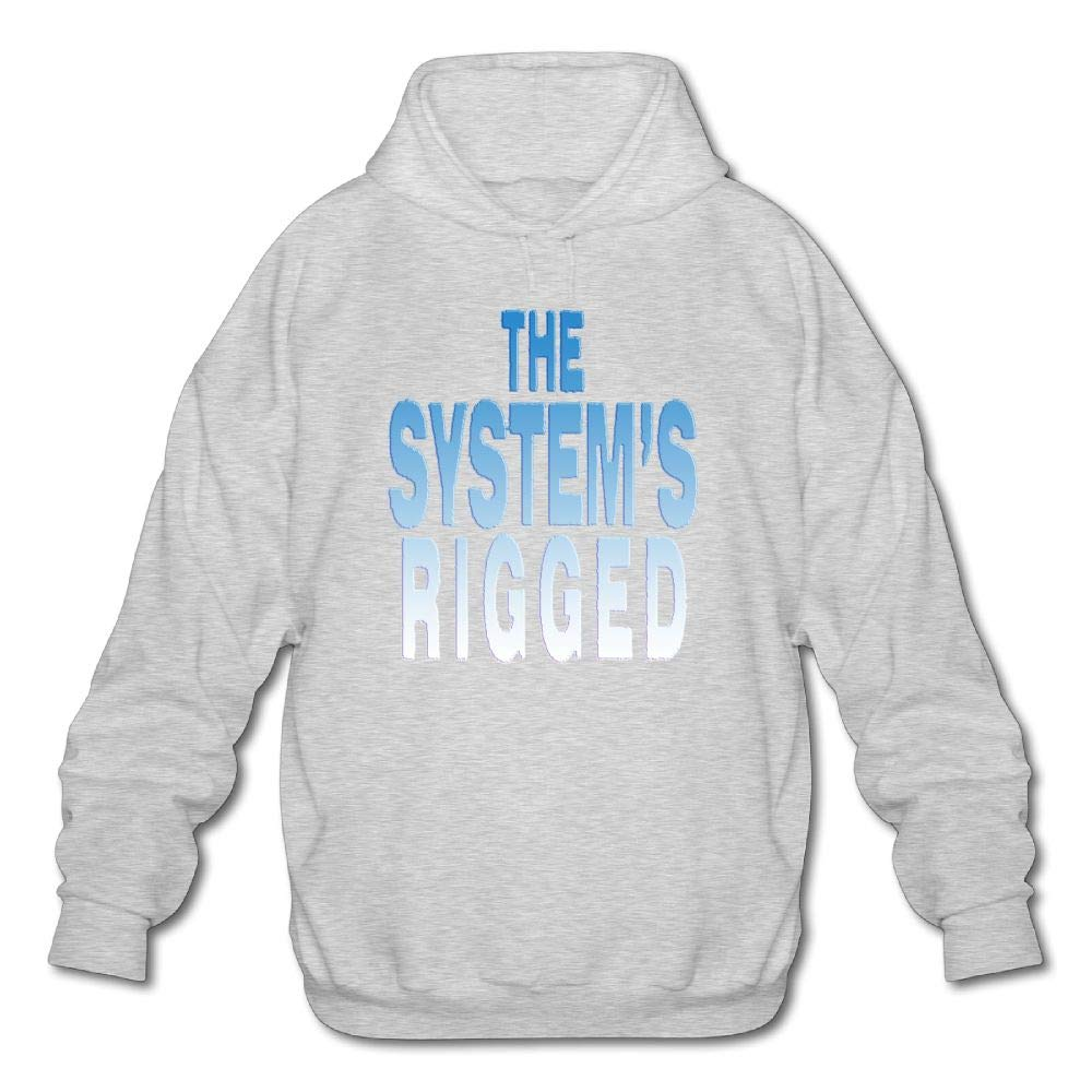 Lixiaoyan Mens Long Sleeve Cotton Hoodie The Systems Rigged Sweatshirt