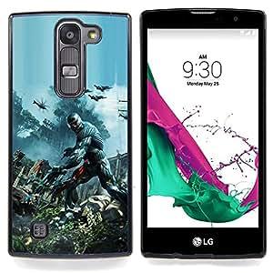 "Qstar Arte & diseño plástico duro Fundas Cover Cubre Hard Case Cover para LG G4c Curve H522Y ( G4 MINI , NOT FOR LG G4 ) (Crisis Futuro Guerra Soldado"")"