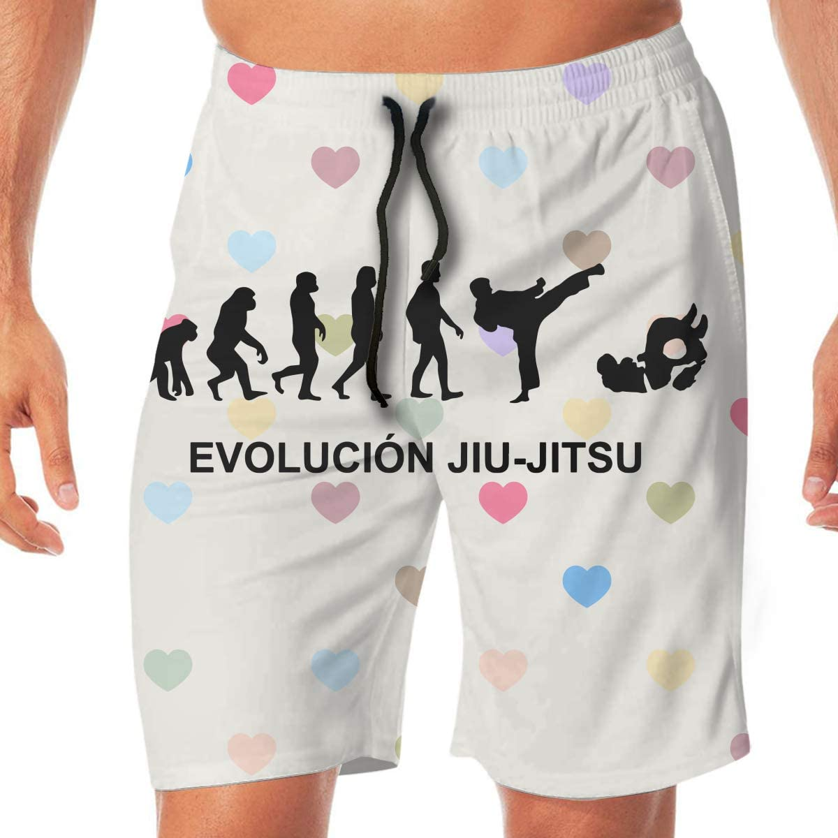 Go Vegan Mens Printing Beach Board Shorts Slim-Fit Swim Trunks with Pockets