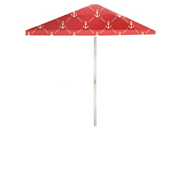 Best of Times Anchors Away Patio Umbrella, 8', White/Red