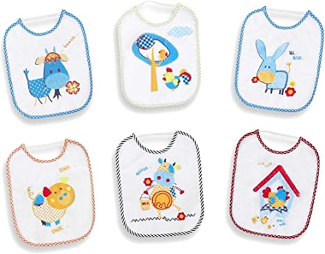Pack 12 Baberos Goma 20x25cm: Amazon.es: Bebé