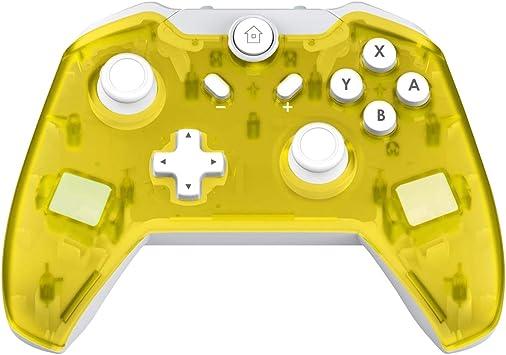 JFUNE Mando Inalámbrico para Nintendo Switch, Switch Pro Controlador Wireless Switch Gamepad, 6-Axis Gyro Dual Motor Switch Controller- Nueva versión 2019 (Amarillo): Amazon.es: Videojuegos