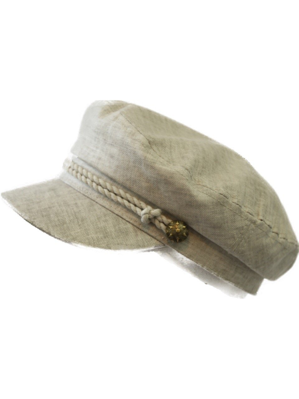 90210 Wholesale Sailor Captain Fisherman Cap Fashion Yacht Boat Costume Linen Fiddler Hat (Light Gray)
