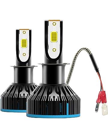 VoRock8 COB H3 6400LM LED Fog Driving Light, H3 Halogen Fog Bulb Replacement, 6500K