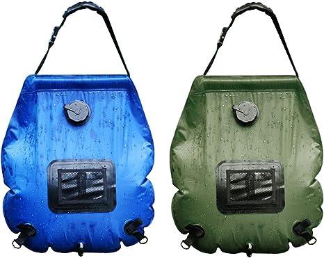 Outdoor 20L solaire auto Chauffage Camping Douche Bag PVC Tuyau d/'eau